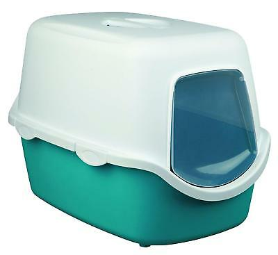 Cat Litter Tray With Lid And Door Hooded Deep Kitten Toilet Box Large Portable..