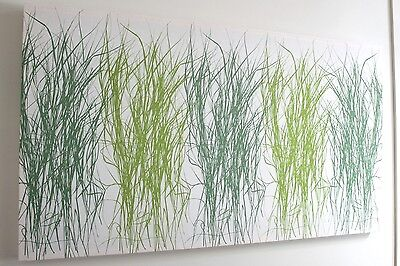NEW MARIMEKKO HEINA GRASS GREEN FABRIC WALL HANGING ART PICTURE 122 x 70cm