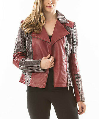 Cowgirl BROWN mlt Womens Native American Western Tribal Print Leather Jacket XL