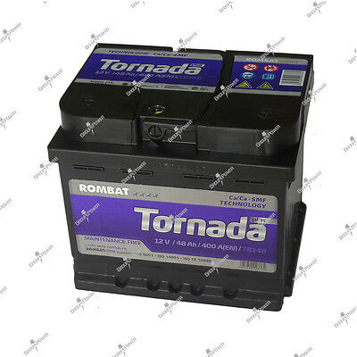 Batterie TB148 12v 48ah 400A FORD-ESCORT 1.3-63-Essence-07/1990<12/1994