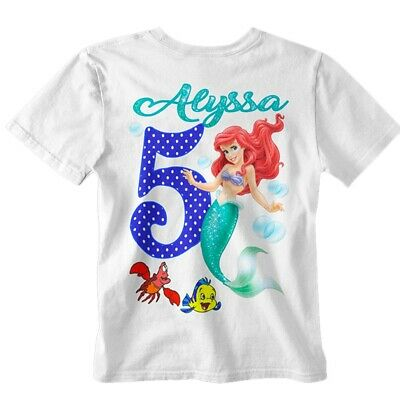 Ariel Birthday Shirt Little Mermaid Party Supplies Disney