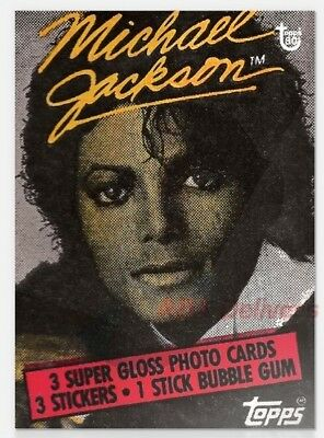2018 Topps Wrapper Art Card #19 Michael Jackson 1984 80th Anniversary PR-234