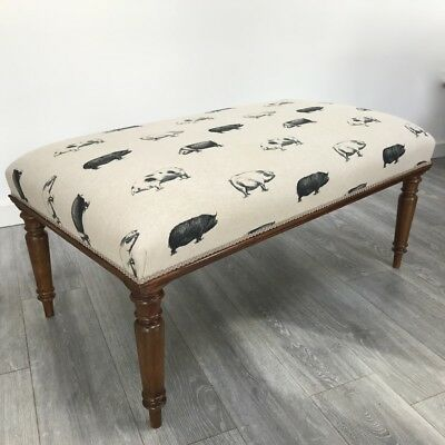 Antique Victorian style centre stool footstool coffee table