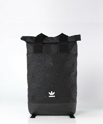 ADIDAS ORIGINALS 3D MESH ROLL UP BACKPACK BLACK DH0100 Trefoil Issey Miyaki  bag f5f3d2c9e68b6