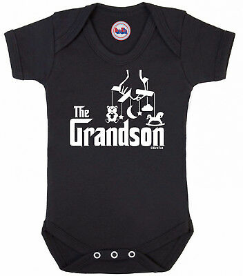 Funny boys movie BABYGROW 'THE GRANDSON' Novelty Baby Clothes Vest Shower