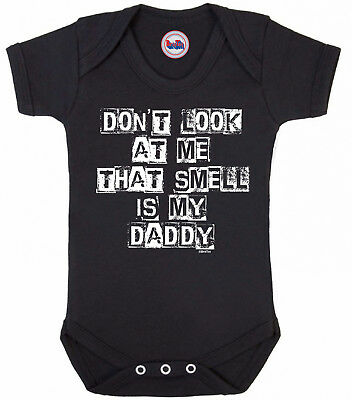 Funny boys or girls BABYGROW 'THAT SMELL IS MY DADDY' Novelty Vest Baby Clothes