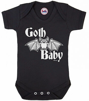 Funny boys or girls BABYGROW 'GOTH BABY' Novelty Vest Baby Clothes