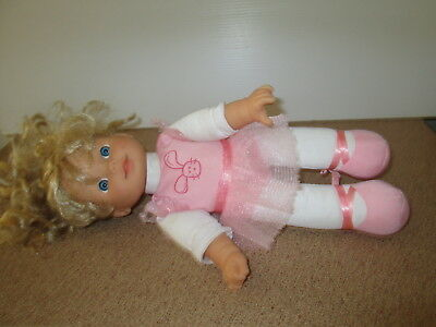 Cititoy Doll Soft Body Blonde Hair Blue Eyed Little Girl