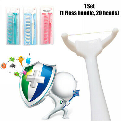 1 Set Dental Floss Handle Holder Disposable Heads Oral Cleaner Tooth Health Care