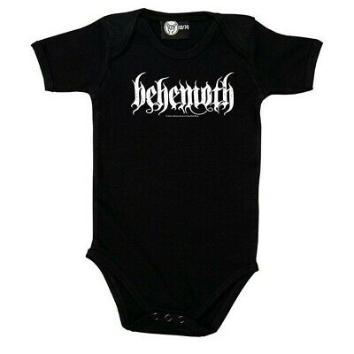 Behemoth Logo Baby One Piece Bodysuit Infant Metal Kids Romper Offcl Size 0-18