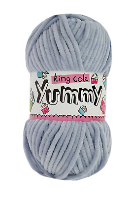 king Cole yummy super soft chunky yarn 100g ball in 8 colours