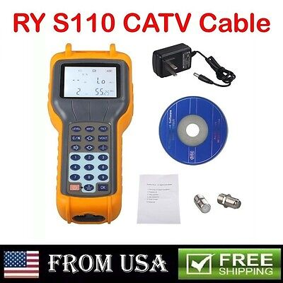 Ship From US RY S110 CATV Cable TV Handle Digital Signal Level Meter DB Tester