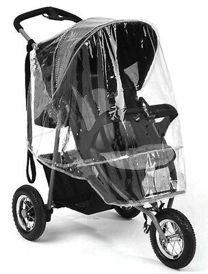 Universal Pushchair Buggy Rain & Wind Cover - Transparent Baby Stroller Cover