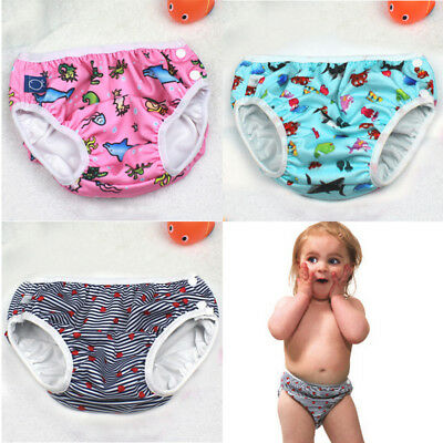 Swim Nappy Cover Diaper Leakproof Reusable Baby Infant Boys Girls Toddler Pants