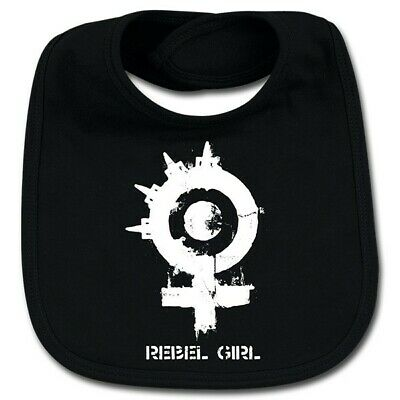 Arch Enemy Rebel Girl Cotton Baby Bib Girls Infant Heavy Metal Kids Black Bibs