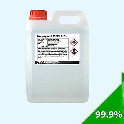 IPA IsoPropyl Alcohol 99.9% Pure 5 Litre (5L) Isopropanol *Delivered by Courier*