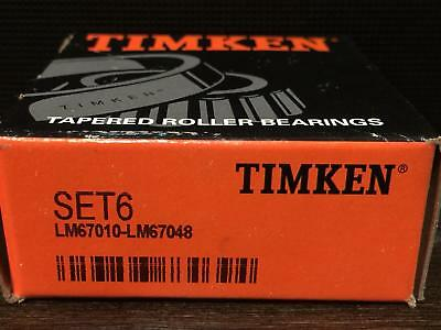 Timken Set 6, Set6 (LM67048 LM67010)Bearing Cone/Cup Set one bearing one race