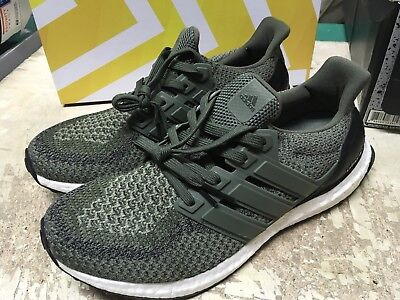 bfb05fede USED Adidas Men s UltraBOOST 2.0 OLIVE CARGO BB6055 RUNNING SHOES SZ 7.5  FREE