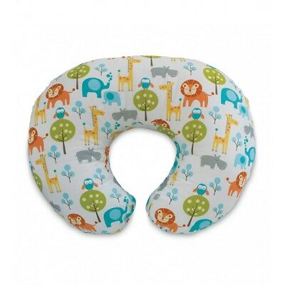 Chicco Boppy Nursing/feeding Pillow With Cotton Slipcover - Peaceful Jungle