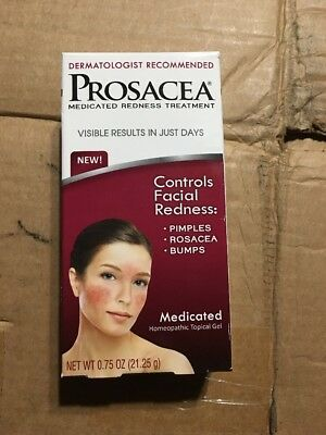 Prosacea Gel Medicated Redness Treatment Homeopathic Topical 0.75 oz 2/2019 New