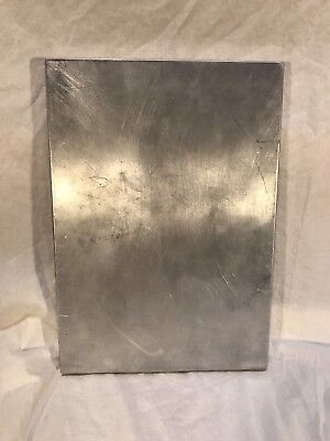 Vintage Aluminum Metal Folding Portable CLIPBOARD Storage Compartment Hinged