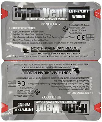 North American Rescue Hyfin Vent Chest Seal - 2 pack