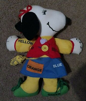 Vintage Snoopy Girlfriend BELLE & Woodstock 1968 Dress Up Learning Stuffed Doll
