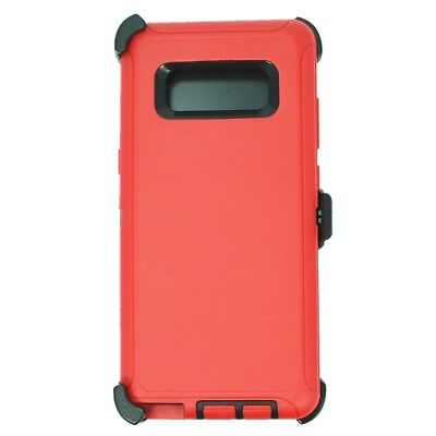 Red Black For Samsung Galaxy Note 8 Defender Case w/ Clip fits Otterbox