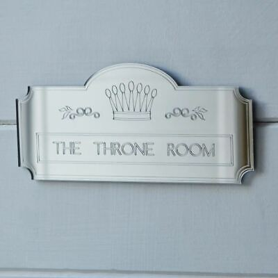The Throne Room Crown Plaque Toilet Door Sign
