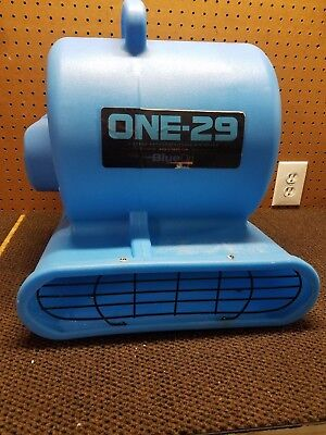 BlueDri One-29 Air Mover Carpet Dryer Blower Floor Fan Blue 3 Speed 115V 1/3 HP