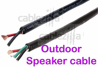 Outdoor Speaker Wire Cable Direct Burial Wall 14AWG 16AWG UV CL2 500ft 250ft 2 4