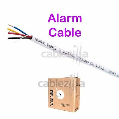 Security Wire Burglar Alarm 22//2 500FT Solid Unshielded Control Speaker Cable