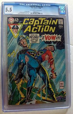 Dc Comics Superman Captain Action 3 2-3/69 Cgc 5.5 New Mint