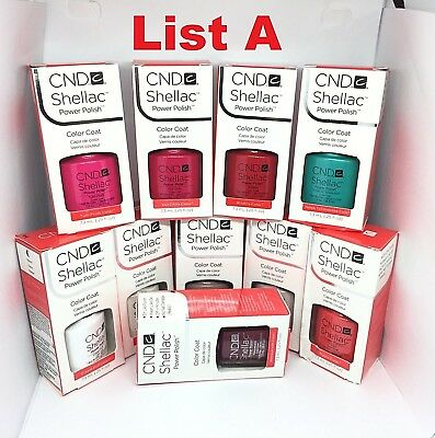 CND Shellac UV LED Gel Nail Polish Collection 7.3ml 0.25oz Pick Any Color LIST A