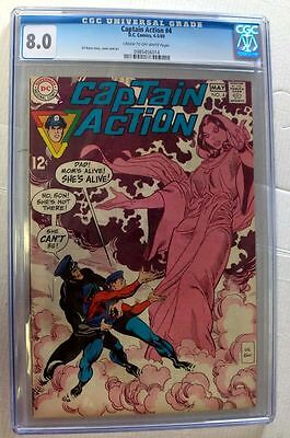 Dc Comics Superman Captain Action 4 4-5/69 Cgc 8.0 New Mint