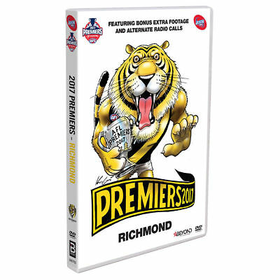 AFL 2017 PREMIERS - RICHMOND Region 4 DVD BRAND NEW!