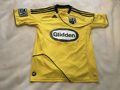 COLUMBUS CREW  15 MLS Adidas Clima Lite Soccer Jersey Youth Medium ... 06fd6f8e4