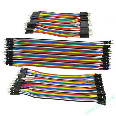 40pcs Colorful Dupont Wire Cable Jumper Thread M-M/M-F/F-F For Arduino Supplies