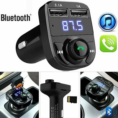 Wireless Bluetooth FM Transmitter MP3 Player Dual USB Charger Cigarette Lighter
