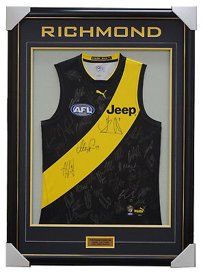 Richmond 2018 Signed Official AFL Team Jumper Framed Dustin Martin Cotchin + COA