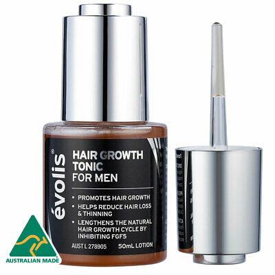 Evolis Hair Growth Tonic For Men 50Ml Lotion Reduce Hair Loss 2 Months Supply