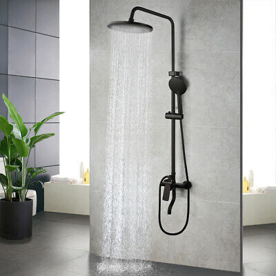Classical Antique Bronze Bathroom Rainfall Shower Faucet Set Mixer Tap Hand Spra