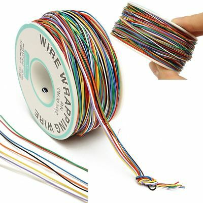 280M 8-Wire Colored Insulated P/N B-30-1000 30AWG Wire Wrapping Cable Wrap Reel