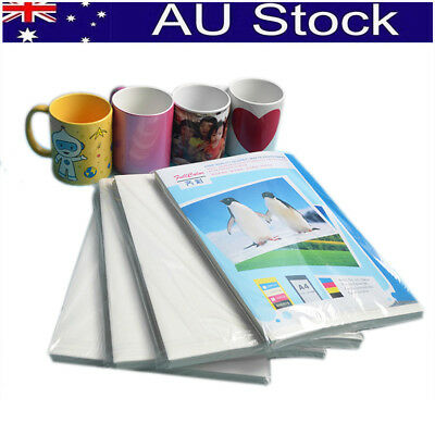 100 Sheets A4 Dye Sublimation Heat Transfer Paper for Mug Cup Polyester T- Shirt
