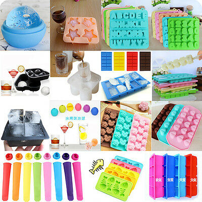 Silicone/Rubber Ice Cube Tray Freeze Mold Maker Flexible Bar Pudding Party Tool