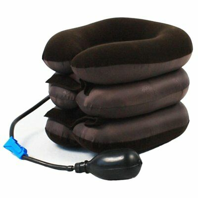Cervical Neck Head Pain Traction Support Brace Device NEW Air Inflatable Pillow