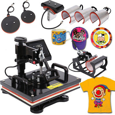 8in1 Hitzepresse Heat Press Heißpresse T-shirtpresse Printing Hut Transferpresse