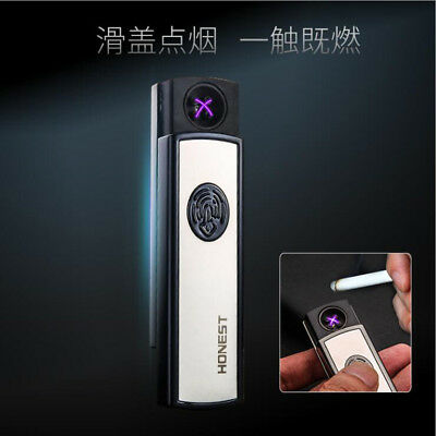 Dual Arc Electric USB Lighter Rechargeable Windproof Flameless Cigarette HONEST