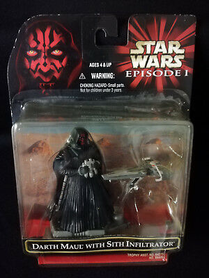 Star Wars Hasbro Episode 1 Darth Maul with Sith Infiltrator