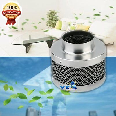 """4"""" Inch 200CFM Carbon Charcoal Inline Fan Filter Odor Control Scrubber 2018 FB"""